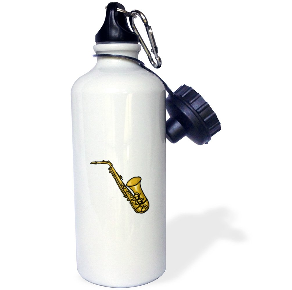21 oz White 3dRose wb/_164390/_1saxophone abstract detailed Sports Water Bottle