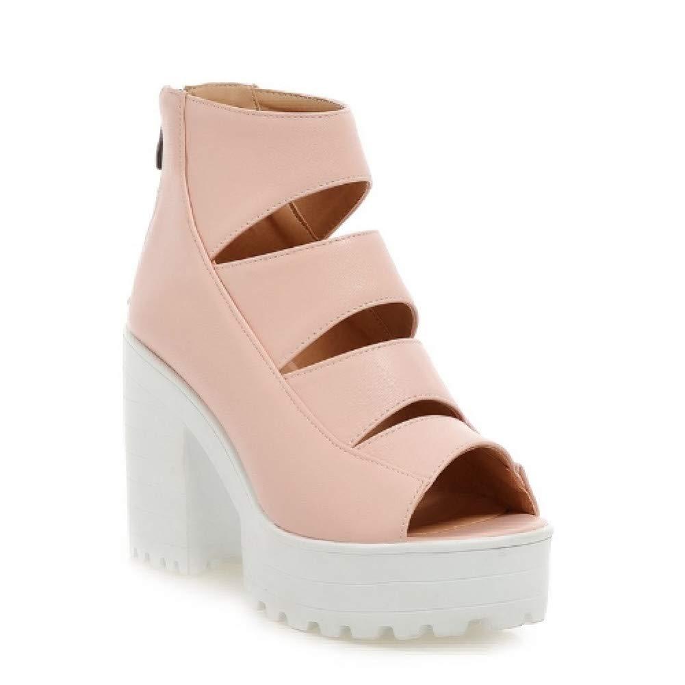 Ai Ya-liangxie Frauen Gladiator Pumpen Neue Neue Neue Style Vintage Chunky High Heels Ausschnitt Partei Prom Hochzeit Schuhe Open Toe Plattform Pumpen c81494