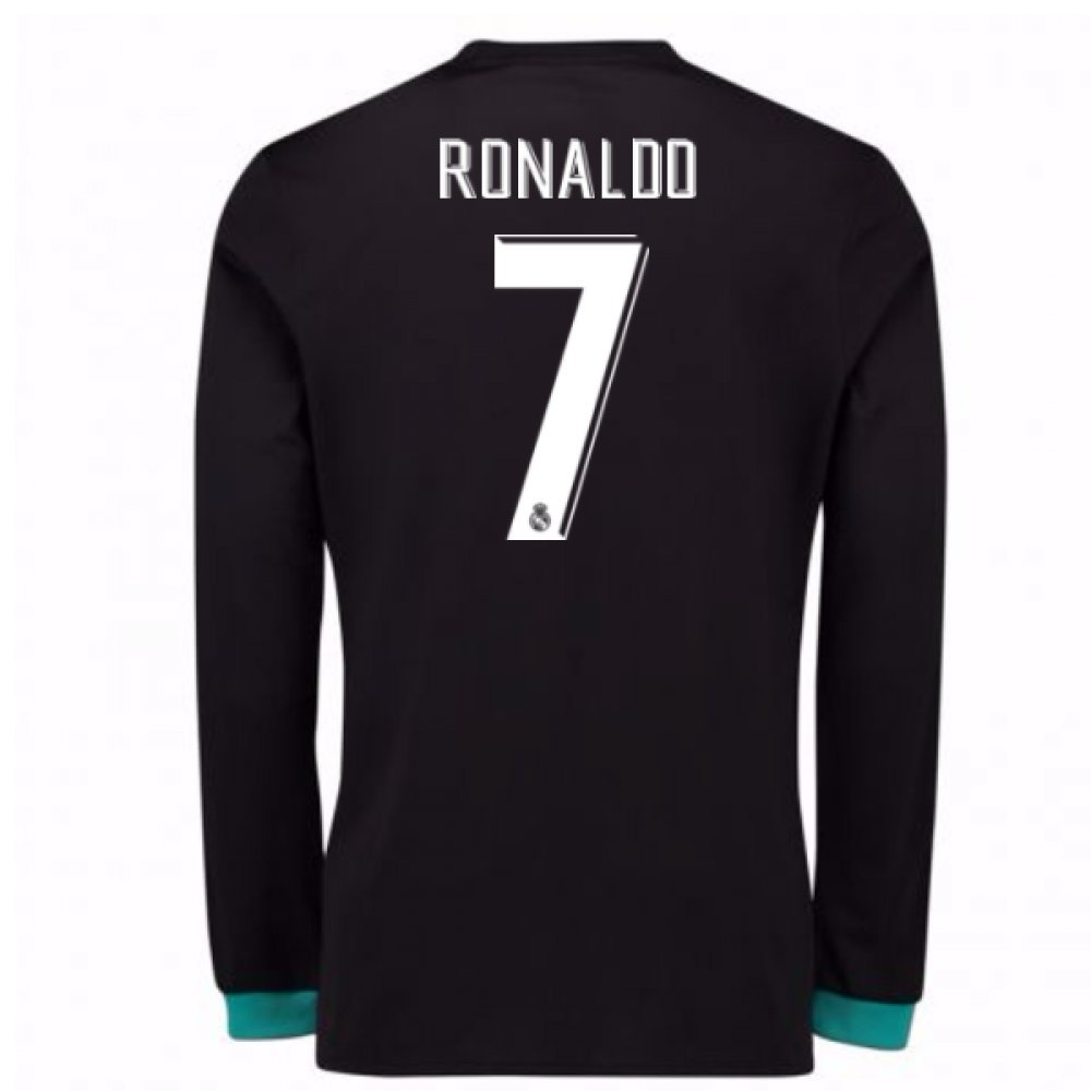 2017-18 Real Madrid Away Long Sleeve Shirt Kids (Ronaldo 7) B077VJV2S2 Medium Boys 28-30