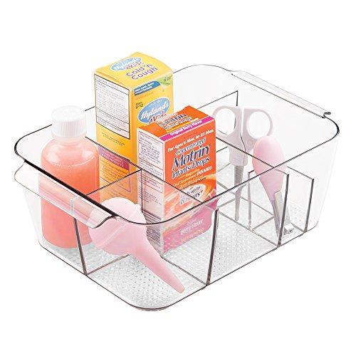 mDesign Nursery Divided Storage Organizer