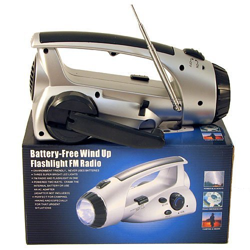 Battery-Free Wind Up Flashlight FM Radio By USA CASH AND CARRY - PrimeTrendz TM.