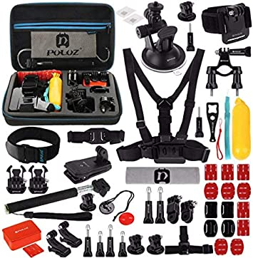 PULUZ 53 in 1 Accessories Total Ultimate Combo Kits with EVA Case for GoPro HERO6 / 5/4/3 + / 3/2/1 Xiaoyi Other Action Cam