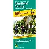 Altmühltal-Radweg, Rothenburg o. d. T. - Kelheim: Leporello Radtourenkarte mit Ausflugszielen, Einkehr- & Freizeittipps, wetterfest, reißfest, ... 1:50000 (Leporello Radtourenkarte / LEP-RK)