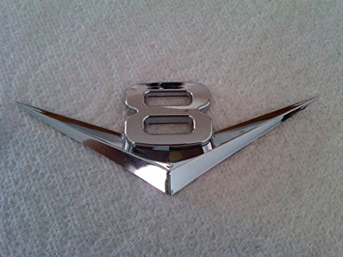 (TRUE LINE Automotive V6/V8 Chrome Emblem Badge Trim (V8))