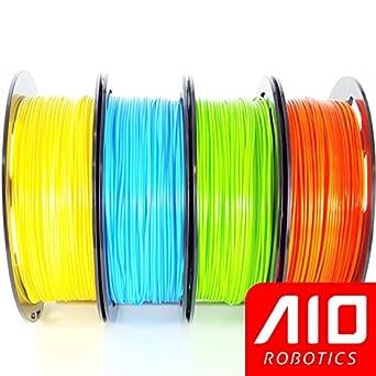 Filamento AIO Robotics Premium para impresoras 3D, PLA, 4 x 0,5 kg ...