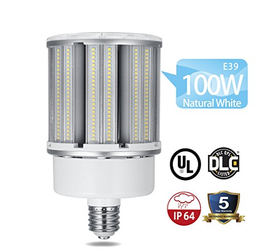 Cf Bulb - 100W LED Corn Light Bulb,Large Mogul Screw E39 Base Natural White 5000K IP64 Waterproof Corn Light Bulbs,13500 Lumen,Replacement for Metal Halide Bulb, HID, CF