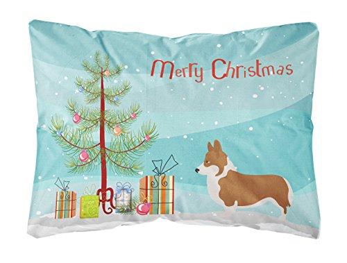 Caroline's Treasures BB8482PW1216 Pembroke Welsh Corgi Christmas Canvas Fabric Decorative Pillow, Tree (Christmas Corgi Tree Welsh)