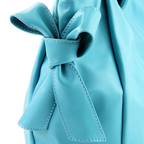 en Hellblau Nappa de bandoulière Italiennes cuir Sac modamoda IT28 1qX8w1