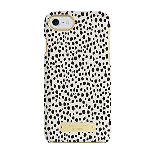 Leopard Iphone Case (Sugar Paper Cell Phone Case for iPhone 7 - Mini Leopard Dot Black / Ivory Leather)