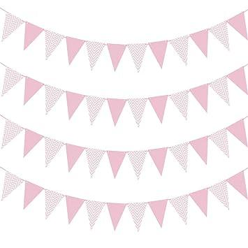 3M 15 Flags Glitter Bunting Banner Pennant Garland Wedding Birthday Party Decor