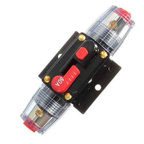 DC 12V/24V/32V Car Stereo Audio Circuit Breaker Inline Fuse Holder (80A) by QUhang (Image #1)