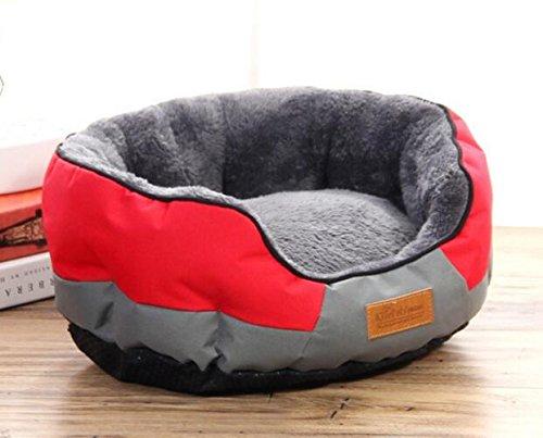 EEvER Confortevole Letto per Animali Lavabile Oval Warm Kennel Cat Nest Pad per Animali Domestici Pet Supplies Rosso