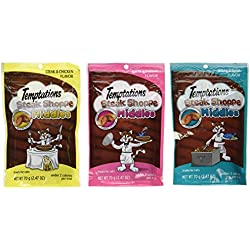 Temptations Cat Treats Steak Shoppe Middles Variety Pack - 3 Flavors (Steak & Shrimp, Steak & Tuna, and Steak & Chicken Flavors) 3 Pouches - 2.47 Oz Each
