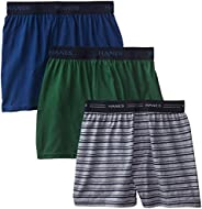 Hanes Boys 3 Pack Ultimate Comfort Flex Solid Knit Boxer