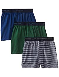 Hanes Boys' 3 Pack Ultimate Comfort Flex Solid Knit Boxer