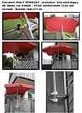 2 x Distance de parapluie -senkrecht anbringbarer ou horizontale-pivote à 360° brevetée-bALKONSCHIRME amovible support sTÖCKEvon 25 à 42 mm de diamètre de holly sTABIELO avec douille profonde 11 et 13 cm distance cm de long de l'axe de filetage pour fixation murale avec support mULTI - 5 compartiments orientable à 360° kratzfreien gUMMISCHUTZKAPPEN de fixation pour attaches de ronds ou carrés éléments de 25 à 55 mm-fabriqué en allemagne-innovation en allemagne-holly ® produits sTABIELO holly-- sunshade ®-sCHIRMENSTÖCKEN jusqu'à ø 55 mm, 2 supports de fixation ou 2–te utiliser pour des raisons de sécurité, serre-câbles)
