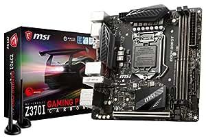 MSI Z370I GAMING PRO CARBON AC Desktop Motherboard - Intel Chipset - Socket H4 LGA-1151 - Mini ITX - 1 x Processor Support - 32 GB DDR4 SDRAM Maximum RAM - 3 GHz O.C., 2.80 GHz O.C., 3.60 GHz O.C., 3.