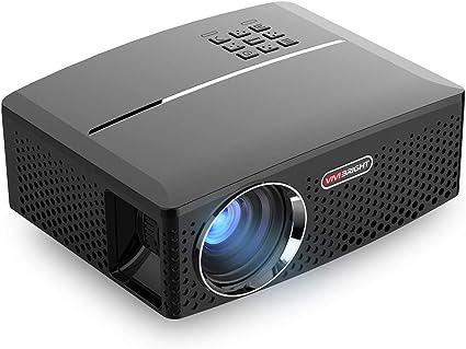 Proyector, Portátil Dual Viruta LED Mstar + Amlogic 4K, Trabajo Con TV Box/PC / PS4 / HDMI/VGA/TF/AV/USB/Smartphones, 800X480 Píxeles, Juegos Inicio Entretenimiento Fiestas: Amazon.es: Oficina y papelería