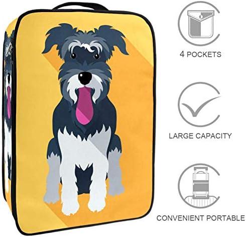 MYSTAGE シューズケース 靴入れ 可愛い 犬 ペット シューズバッグ シューズ袋 収納ポーチ 靴箱 履き替え 小物収納 取り付け 多機能