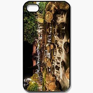 Protective Case Back Cover For iPhone 4 4S Case USA Stones Pond Blackhawk California Night Black wangjiang maoyi