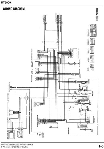 honda 5013 wiring diagram