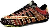 JiYe Men Soccer Shoes for Women Turf Shoe Indoor Cross Training by, Black,44 EU=9US-Men/11.5US-Women