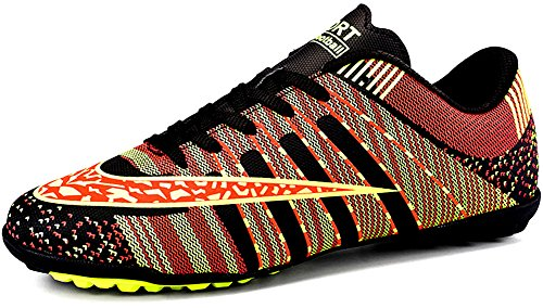 JiYe Men Soccer Shoes for Women Turf Shoe Indoor Cross Training by, Black,36 EU=4.5US-Kids/5US-Women (Soccer Shoes Turf Outdoor)