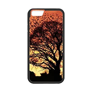 Sunrise With Many Birds flying Design Apple iphone 6 4.7 TPU (Laser Technology) Case, Cell Phone Cover