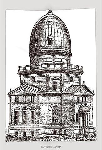 Custom Throw Blanket Observatory Of Strasbourg France Vintage Illustration From Meyers Konversations Lexikon 96701959 and (Meyers Lexikon)