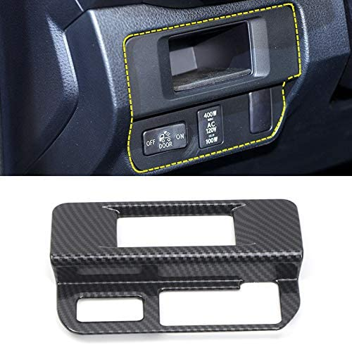 Only Fit Left Handle Drive for Toyota Tacoma 2016 2017 2018 2019 ABS Carbon Fiber Car-Styling Interior Accessories Front Fog Ligt Lamp Switch Button Cover Trims