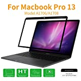 MacBook Pro 13 2017 Screen Protector, HD Clear Anti Scratch Bubble Free Screen Protector for Apple MacBook Pro 13 Inch with or without Touch Bar(A1706/A1708, Released 2016/2017), Black Frame