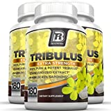 BRI Nutrition Tribulus Terrestris - 180 Count 45% Steroidal Saponins - Highest Purity On The Market - 1500mg Maximum Strength Bulgarian Tribulus - 3-Pack