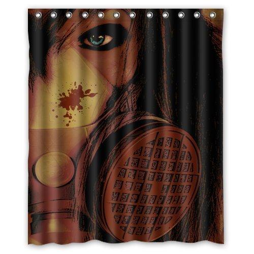 Antigas máscara fondo resistente al agua cortina de ducha/cortina de baño, tamaño: