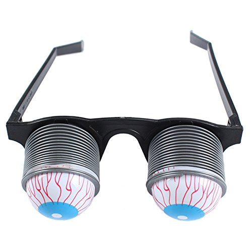 Lanlan Prank Joke Toy Funny Horror Pop Out Eyes Glasses Dropping Eyeball Glasses for Halloween Costume Parties Joke Gift Pop Out Eye (Bloodshot Eyeball Costume)