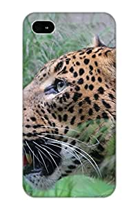 High Quality Tpu Case/ Animal Leopard FWYQLd-1195-QMuIR Case Cover For Iphone 4/4s For New Year's Day's Gift
