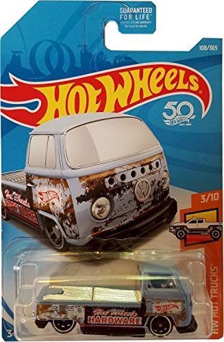 Hot Wheels 2018 50th Anniversary HW Hot Trucks Volkswagen T2 Pickup 108/365, Light Blue