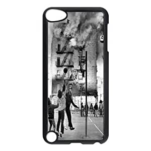 Ipod Touch 5 Case Old NYC Photo of a Fire Burning in the Bronx While Local Kids Continue to Play Ball., Old Photo Kweet, {Black}