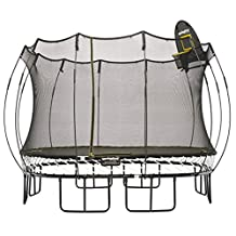 Springfree Trampoline - 11ft Large Square Trampoline With Basketball Hoop and Ladder …