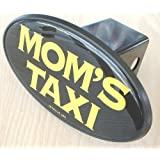 Mom's Taxi Novelty Trailer Hitch Cover Plug for Cars, Trucks, SUVs