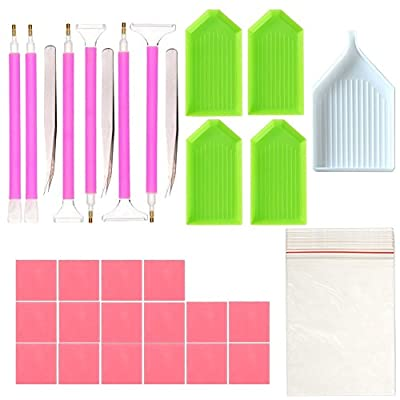 DIY Diamond Painting Tools,DIY Embroidery Diamond Painting Accessories Set,36 Pieces in Total