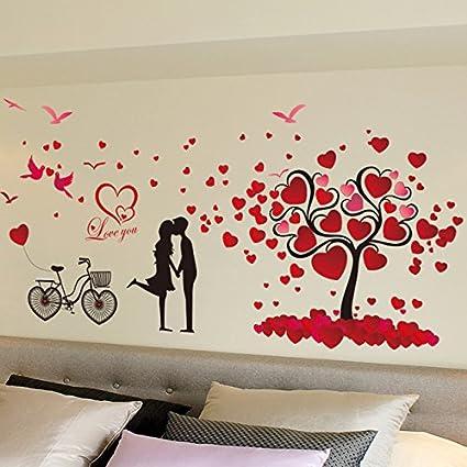 Romantic love tree wallpaper stickers bedroom living room background ...