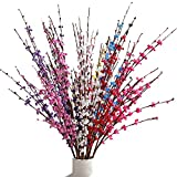 HEBE 10 Pcs Artificial Flowers with Long Stems Artificial Jasmine Flowers for Wedding DIY Floral Art Plant Home Office Party Decoration,Mixed Color