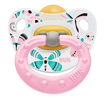 NUK Classic Happy Kids Chupete, látex, tamaño 2, 6 - 18 ...