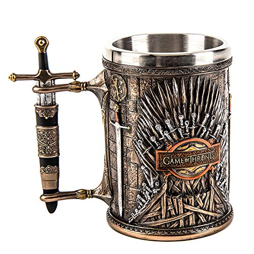 Game of Thrones Mug Coffee Water Beer Tankard Iron Throne Goblet Resin Stainless Steel Cups Collection Home Decor Display