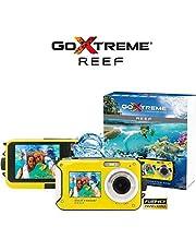 GoXtreme 'Reef' onderwatercamera met webcam-functie, 4-voudige zoom, anti-shaking functie, 2 displays, 3 m waterdicht, geel