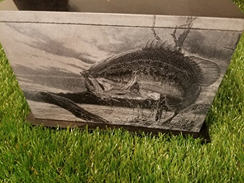 175 CU.In Human Granite Urn Engraved Deer Hunting Bass Fishing by The Memories Collection (Image #5)