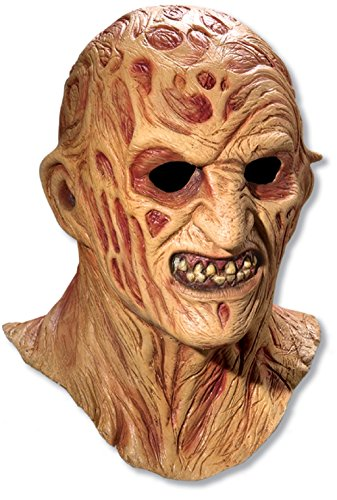 A Nightmare On Elm Street Freddy Krueger Costume Deluxe Overhead Mask, Red, One Size (Halloween Costumes Freddy)
