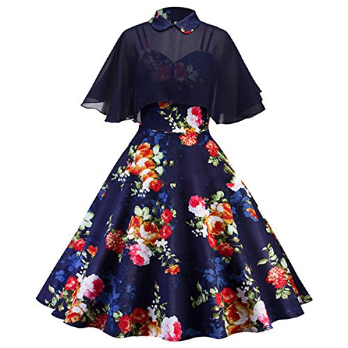 Display Stock Nec (nboba in Stock Navy Blue Cocktail Dresses with Chiffon Cape Elegant Short Dress Knee Length Formal Dress Cheap Simple Gown Navy Blue 4)