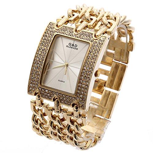 Sheli Damen Armbanduhr Gold Urlaub Geschenk für Weihnachten Danksagung Halloween Armbanduhre