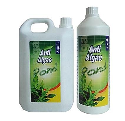 Aquili Algae Antialgas 2L 2000 ml Anti Algas estanque Pond útil para 40000 L